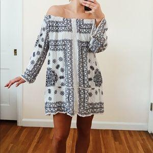Off-the-Shoulder Dress from ZARA